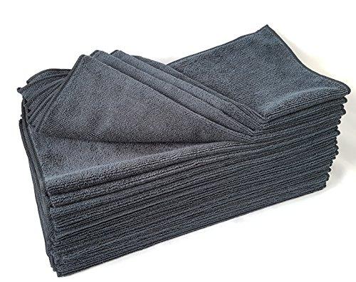 Clean 2 Microfasertuch Schwarz 20 er Pack,40 X 40 Microfasertücher 300g,Mikrofasertuch, Mikrofasertücher