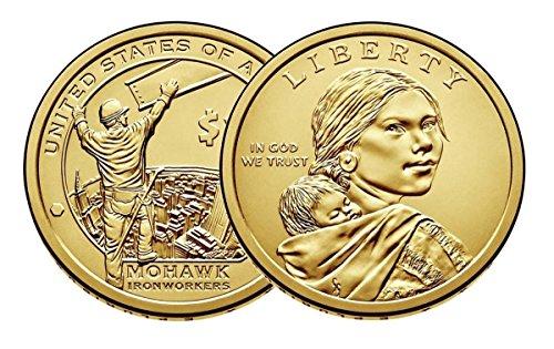 2015 P, D Native American (Sacagawea/Golden) Dollar 2 Coin Set Uncirculated