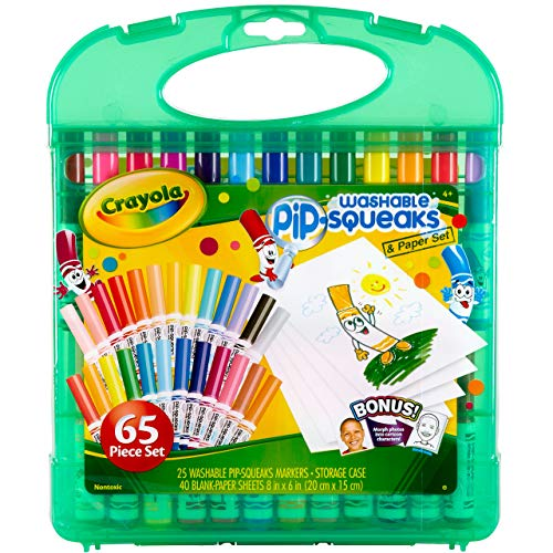 Crayola Pip Squeaks Washable Markers Set, Stocking Stuffer for Boys & Girls, Ages 4, 5, 6, 7