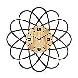 Reloj de Pared de Hierro Forjado Reloj Moderno Sala de Estar Reloj de Cuarzo silencioso Non Ticking 21 en Relojes de Pared Decorativos Fácil de Leer