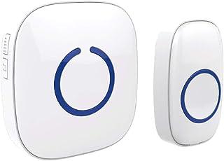 Wireless Doorbell– Waterproof Door Bells & Chimes Wireless Kit – Over 1000-Foot Range, 52 Door Bell Chime, 4 Volume Levels...