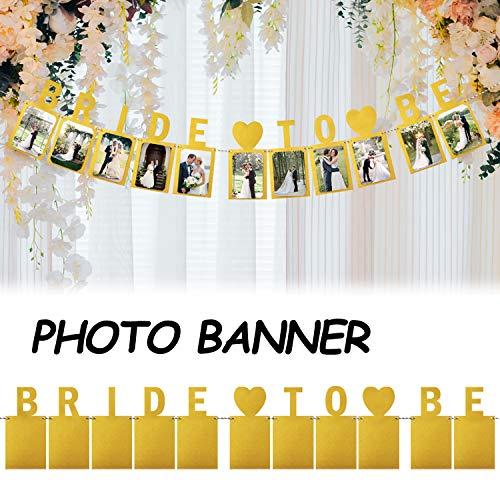 Hatcher lee Bride To Be Photo Banner Gold Foiled For Wedding Sign Bridal Shower Banner Hen Night Bunting