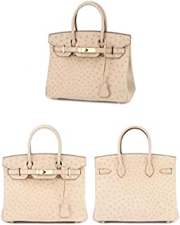 ZXF South Africa Beige Leather Bags Women Leather Handbag European and American Style Platinum Package Handbag 30.4 * 22.1 * 16.2cm Beautiful and Fashionable Handbag (Color : Beige)