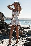 Damenkleid Rock Sexy Rüschen Frauen Puffärmel Kleid Vierkantschleife Schleife Schlanke Taille BlumenkleiderSommer Mädchen Prinzessin Plissee Kleide