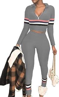 mydeshop Women Fashion Tank Crop Top Short Pants Two Piece Outfit Casual Set Tracksuit