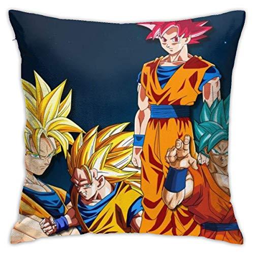 LaoJiNan-shop Dragon Ball Anime Dragon Ball Z Kai Son Goku 18'x18' Standard Cushion Cover Machine Washable