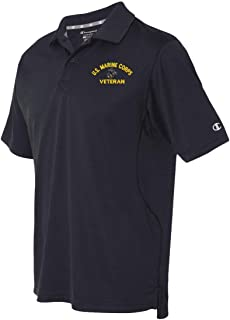 U.S. Marine Corps Eagle Globe and Anchor Veteran Moisture Wicking Polo