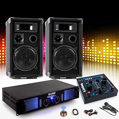 etc-shop PA Party Musikanlage Boxen 2400W Verstärker Endstufe USB MP3 Mischpult DJ-631
