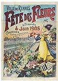 Fete des Fleurs 1905 Poster Rentier, Reproduktion, Format