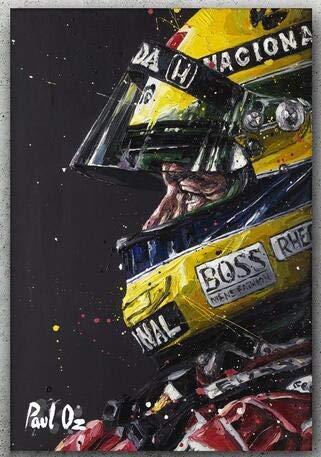 Pintura de diamante personalizada Ayrton Senna Da Silva F1 Racer Eigen Foto 5D Diy Pintura de diamante Cuadrado completo/Icono redondo Bordado de diamantes,50x65cm