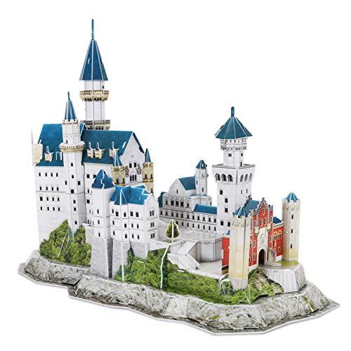 Revell 3D Puzzle 00205 Schloss Neuschwanstein von Ludwig II. von Bayern Die Welt in 3D entdecken, Bastelspass für Jung und Alt, farbig