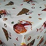 Wachstuch Wachstischdecke Tischdecke Gartentischdecke Weihnachten Zuckerstange Weiß Breite & Länge wählbar 120 x 180 cm Eckig abwaschbar