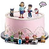 12 piezas Caricatura Paw Dog Patrol Cake Topper/Mini Juego de Figuras, Niños Mini Juguetes Baby Shower Fiesta de cumpleaños Pastel Decoración Suministros