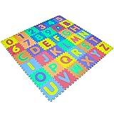 JJOnlineStore - Tapete de espuma para bebés [alfabeto] [números] tapete para bebés, multicolor (alfabeto, 15x15)