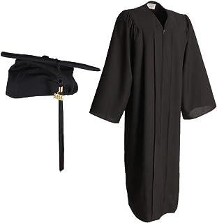 Vestido de Graduación Gorra de Graduación Ajustable Mate con Borla con Encanto 2020 Unisex Adultos Negro