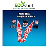 Ecoshirt ZF-BLXR-X8IA Pegatinas Stickers Fork Rock Shox SID WC World Cup 2017 Am125 Aufkleber Decals Autocollants, Rojo