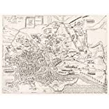 Map Ligorio 16th Century Ancient Rome City Plan Large Wall Art Poster Print Thick Paper 18...