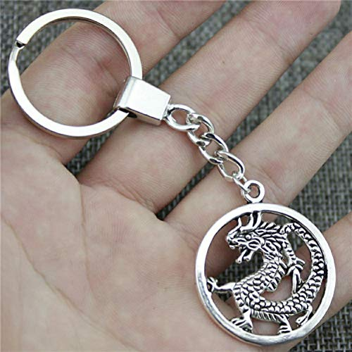 YCEOT Vintage Key Ring Metal Key Chain Keychain Jewelry Gift Silver Plated Drn 37X32Mm Pendant