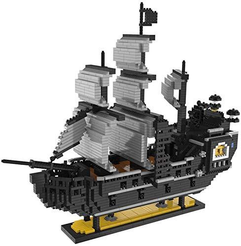 Set de Construcción Juego de bloques de construcción de juguete, barco pirata, modelo de bloque de construcción de barco pirata, juego de construcción de barcos piratas de más de 8 años C