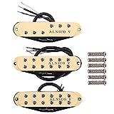 Dcolor 3 Uds Alnico V Pastillas Humbuckers de Tama?O de Bobina úNica para Cuello/Medio/Puente para Stratocaster Guitarra EléCtrica Repuestos
