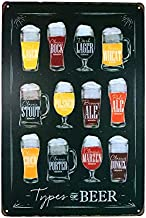 dingleiever-Types of Beer Sign Vintage Hanging Poster House Cafe Restaurant Home Art Painting
