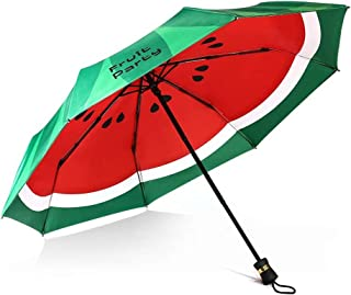 Fruit Creative Folding Umbrella Double Umbrella Umbrella Anti-UV Sun Umbrella Rain and Rain Umbrella HYBKY (Color : Green)