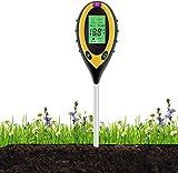xwanli Tester per terreno, misuratore di umidità del terreno, 4 in 1, tester per umidità, luce solare, pH per terriccio, giardino, fattoria, prato