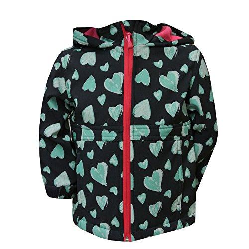 Outburst - baby meisjes softshell jas 10.000 mm waterkolom fleece voering ademend hart-patroon, donkerblauw
