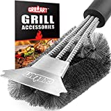 Grillers Grill Brush and Scraper. Best BBQ Cleaner. Perfect Tools for All Grill Types, Including Weber. Stainless Steel Wire Bristles and Stiff 18 Inch Handle. Ideal Barbecue Accessories