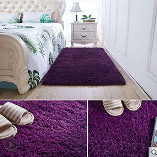 MENEFBS Dazzle - Alfombra de lana de poliéster gruesa y sedosa en varios tamaños y colores (160 x 230 cm)