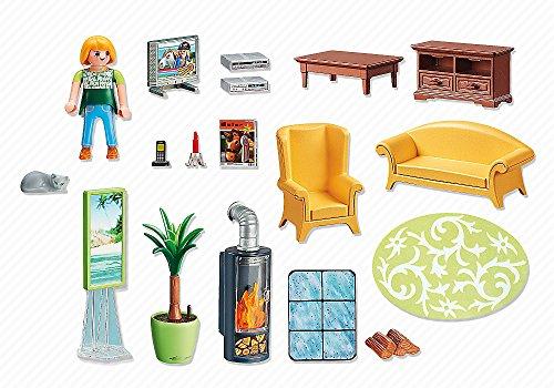 Ensemble Salon avec Foyer au Bois Playmobil - 5308 - 2