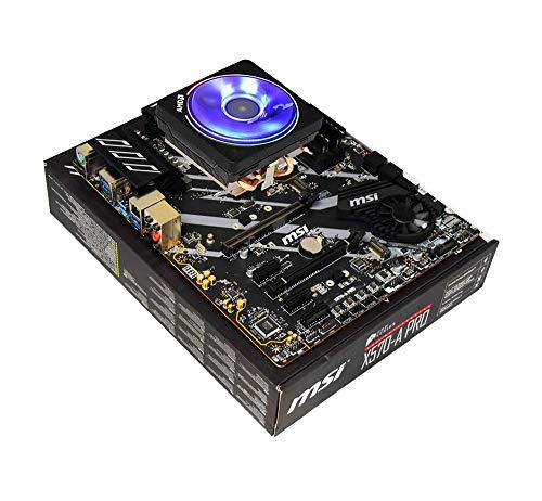 AWD-IT Bundle Carte mère et CPU: AMD Ryzen 7 3800X 8 Cores, 4.5GHz Boost CPU, MSI X570-A Pro ATX Carte mère, sans RAM