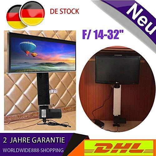 YUNRUX Tv-lift in hoogte verstelbaar, 50 cm, instelbare tv-lifthouder, tv-standaard, standaard, flatscreen, hubläng, tv-wandhouder met afstandsbediening voor 14-32 inch televisie