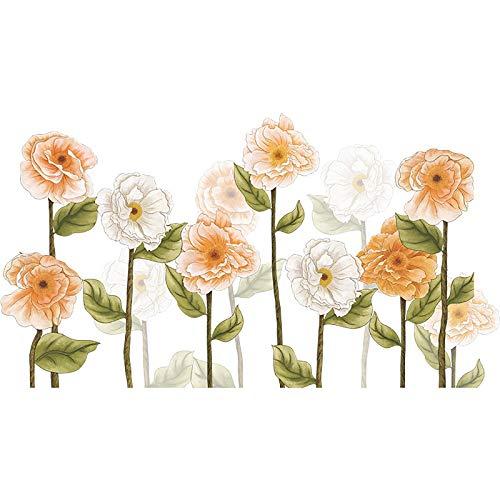 Hanren Pegatinas de pared para esquina, diseño de flores, calcomanías de hierba, rodapiés, pegatinas de pared para niños, habitación infantil, hogar, salón, dormitorio, cocina A