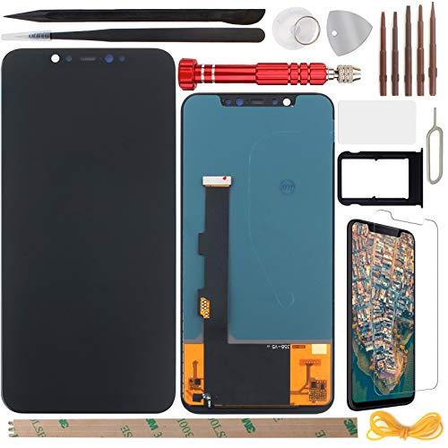 YHX-OU Pantalla LCD de 6,21 pulgadas para Xiaomi Mi 8 de 6,21 pulgadas con pantalla táctil digitalizador con herramientas incluidas, 1 pieza de cristal templado y 1 tarjeta SIM (negro)