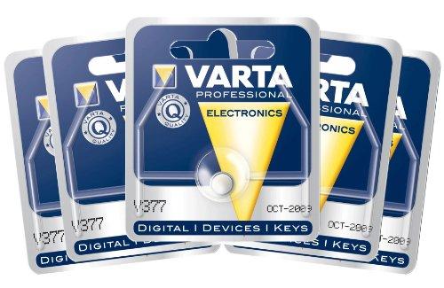 Varta 377101404 Knopfzellen-Set 5x (V377, Electronic-Zelle)