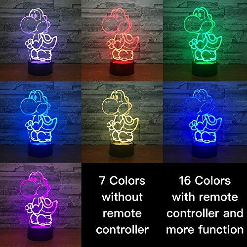 Spiel Mario Yoshi Ei Kinder Nachtlicht Kind Schlafzimmer Dekoration 3D Nachttischlampe USB Tisch Cool Baby LED Nachtlicht