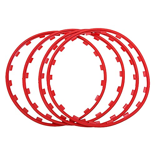 JLFFYJ Anillo de protección de la llanta Anillo de protección de la Rueda Neumático Resistente a los arañazos Cubo de la Rueda Protección y decoración de neumáticos de automóvil