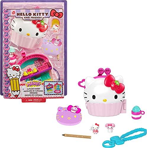 Hello Kitty Cofre con forma de cupcake con muñecos y accesorios de juguete (Mattel GVB30)