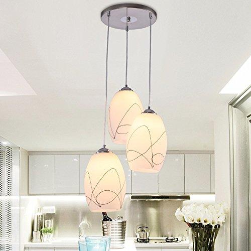 YUPX Lampadario Moderno e minimalista vetro Lampadari/Lampade a sospensione,B lampadari Lampada sospensione da soffitto