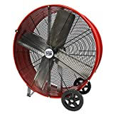 MaxxAir High Velocity Industrial Direct Drive Barrel Fan. Heavy Duty Rolled Steel Housing, 5,500 CFM (30 Inch Barrel Fan)