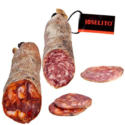 Chorizo y Salchichón Ibérico de Bellota Joselito ✅ 2 Medias Barras de 750 gramos - Llévate GRATIS unas ricas Alegrías Riojanas J Vela