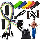 VINFUTUR Set di Bande Elastiche Resistenza Elastici Fitness Fascia Elastica Fasce di Resistenza per Attrezzi da Fitness Yoga Pilates