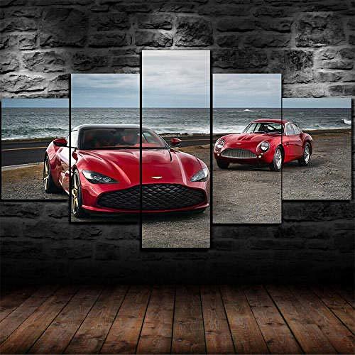 Cuadro En Lienzo 5 Piezas Póster Aston Martin Dbs Gt Zagato Car 5 Piezas Pintura Sobre Lienzo,5 Piezas Imagen Impresión,Pintura Decoración Pared,Canvas 5 Piezas,Tejido No Tejido Moderna 5 Piezas