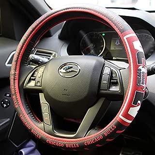 eing Car Steering Wheel Cover Football Team Universal 15 Inch Steering Wheel Cover - NBA Bull Team
