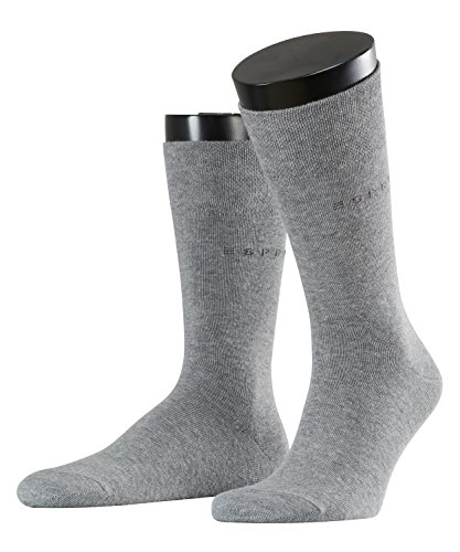 ESPRIT Herren Basic Easy 2-Pack M SO Socken, Blickdicht, light greymel, 43-46 (2er Pack)
