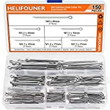 HELIFOUNER 150 Pieces 304 Stainless Steel Cotter Pin Assortment Kit