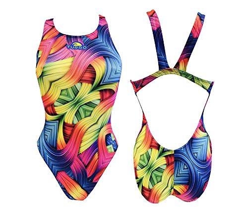 TurboTronic Roll Bragas de Bikini, Morado, XXL para Mujer