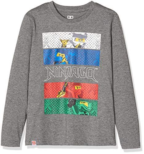 LEGO Jungen CM-50407-T-SHIRT L/S Langarmshirt, Grau (Light Grey 905), (Herstellergröße: 104)