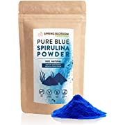 75G Blue Spirulina Powder 100% Natural Phycocyanin Vibrant Blue Colour Premium Quality Vegan Superfood Packed with Antioxidants, Protein, Vitamins & Amino Acids, Nutrient-Dense Immune System Booster